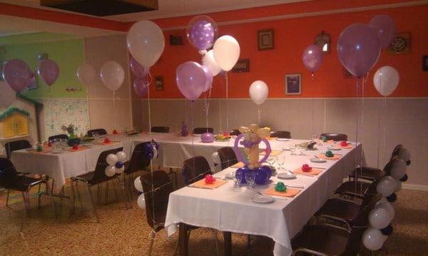 decoracion con globos en salones y jardines