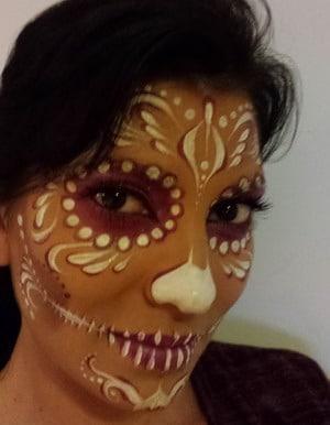 maquillaje fantasia mujer calavera mejicana