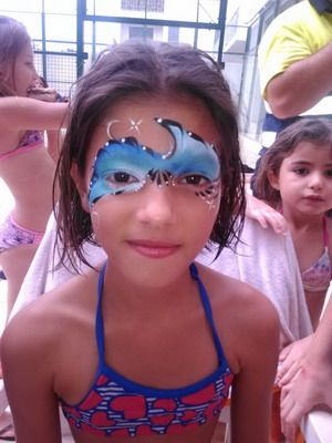 maquillaje de fantasia niña playa