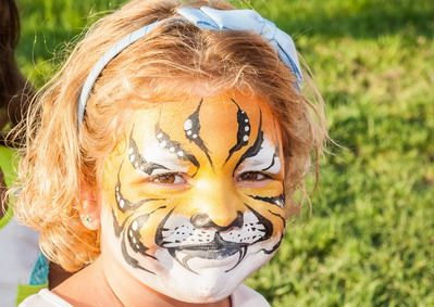 maquillaje de fantasia niña tigre