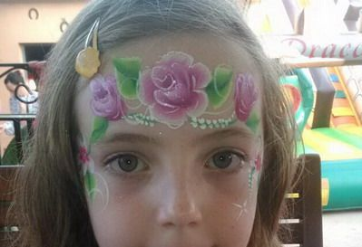 maquillaje con flores
