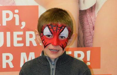 maquillaje de carnaval niño spiderman