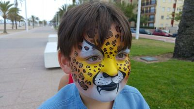 maquillaje de carnaval niño tigre