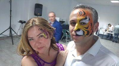 maquillaje de carnaval pareja