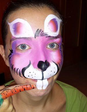 maquillaje de carnaval conejo