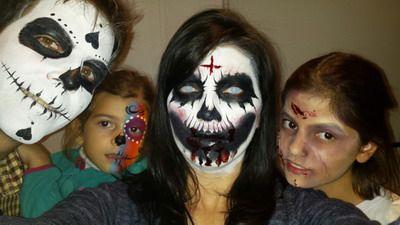 maquillaje de halloween fantasmas