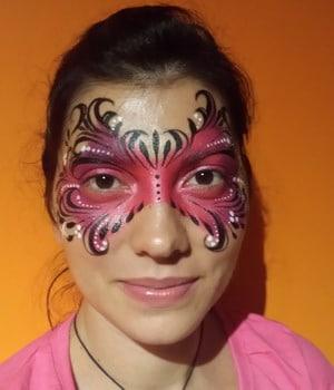 maquillaje para carnaval mujer mascara