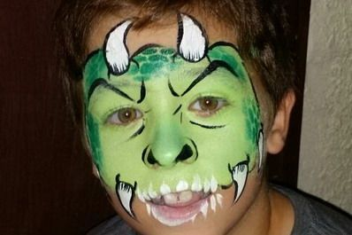maquillaje halloween niños dragon