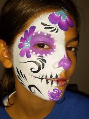 maquillaje halloween niños calavera mejicana