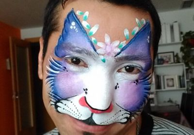 maquillaje para carnaval gato