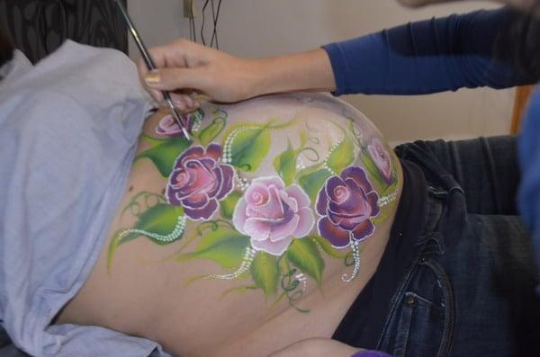 Wow Barriga De Embarazadas Pintadas Dibujos Ideas Precio