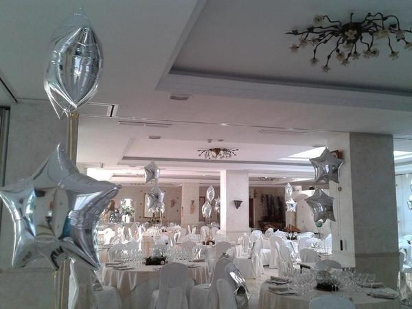 boda decorada con globos