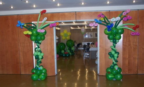 Wow Decoracion Con Globos En Salones Y Jardines