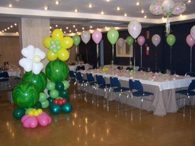 Decoración con Globos para Fiestas Infantiles. Salones y jardines