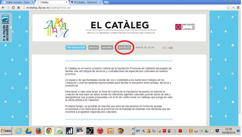paso 1 para entrar en el Cataleg