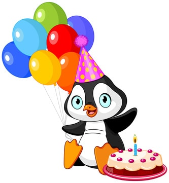 pingüino en cumpleaños infantiles