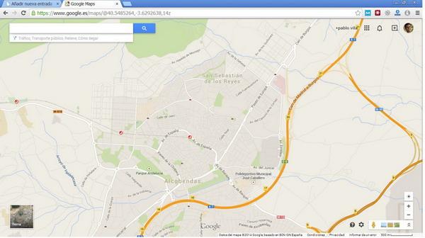 plano de ubicacion de Alcobendas en Madrid