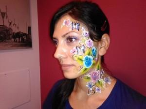 automaquillaje de Daniela con maquillaje de fantasía
