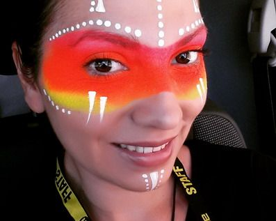 maquillaje de fantasia mujer geuerrera