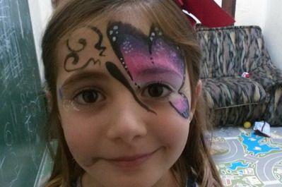 maquillaje fantasia niña mariposa