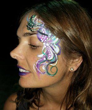 maquillaje fantasia mujer noche