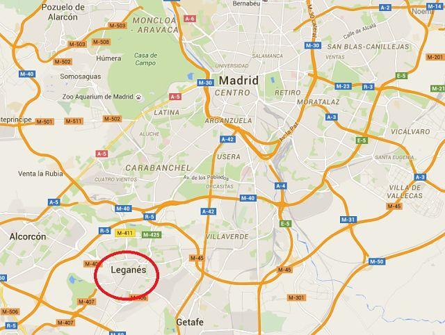 Plano de Leganés (Madrid)