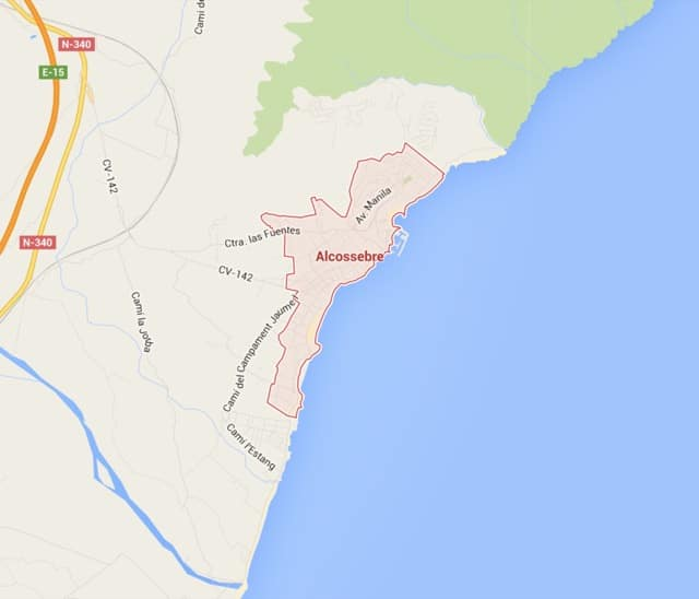 Plano d'Alcossebre en Alcalà de Xivert