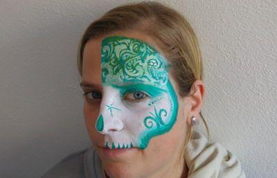 maquillaje de carnaval mascara