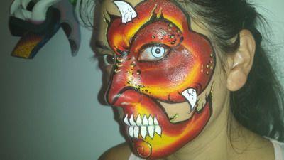 maquillaje para halloween infierno