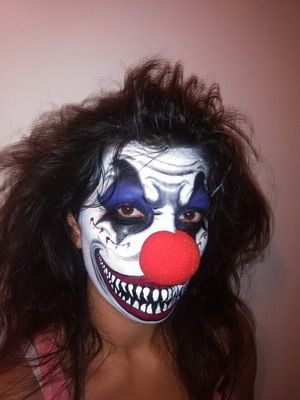 maquillaje para halloween payaso infernal