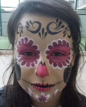 maquillaje para halloween esqueleto