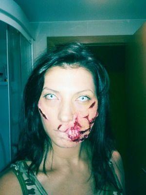 maquillaje halloween monstruo zombie