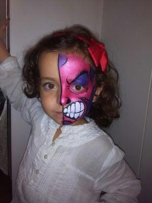 maquillaje halloween niña monstruosa