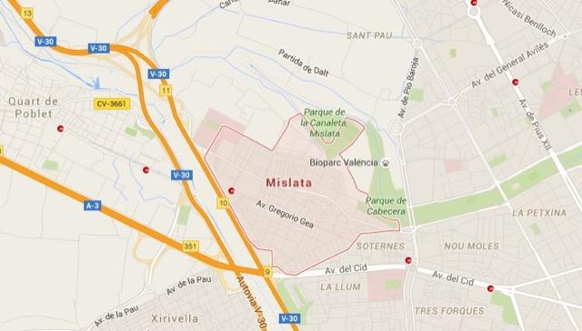 Plano de Mislata
